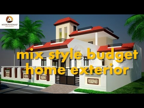 Mix Style Budget Home Exterior Design Traditional Modern Best Indian House Design 2017