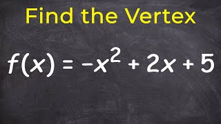 Learn how to find the vertex and intercepts of a parabola
