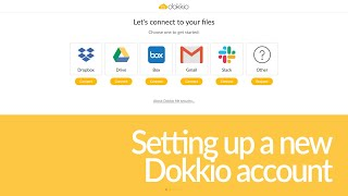 Dokkio Tour Video: Onboarding