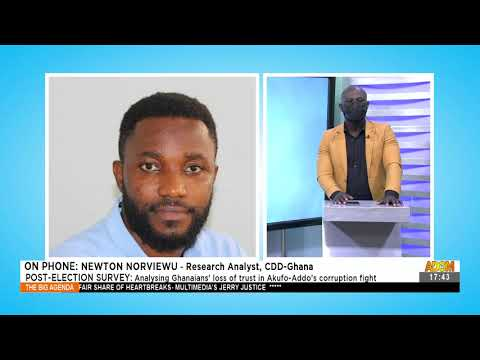 Post-Election Survey: Analyzing Ghanaians' loss of trust in Akufo-Addo's corruption fight (1-9-21)