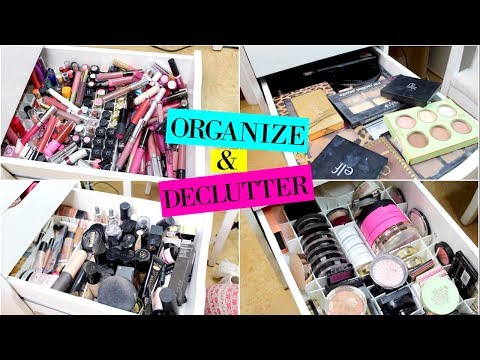 Organize & Declutter My Makeup Collection 2018