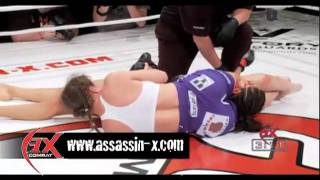 Kim Couture choked out by Sheila Bird at AX Combat: Execution