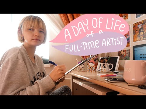 How do I work - Daily life of a freelance illustrator vlog