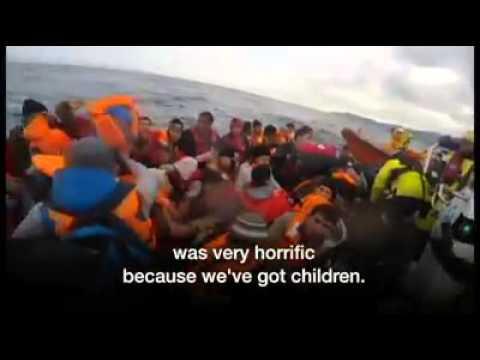 Lesbos' giant migrant life jacket dump