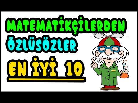ünlü Matematikçilerden En Iyi 10 Anlamlı Söz Youtube