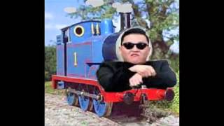 Repeat youtube video Thomas the Tank Engine meets Gangnam Style