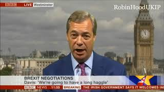 Nigel Farage says the Government is dithering on brexit, sack the PM