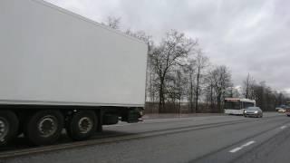 Стачка дальнобойщиков на Московском шоссе СПб. Полиция следит чтобы правильно протестовали, 08.04.(, 2017-04-08T09:58:13.000Z)