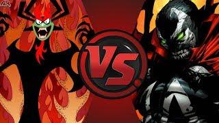 Aku (Samurai Jack) vs Spawn (Image Comics)! Cartoon Fight Nigh…
