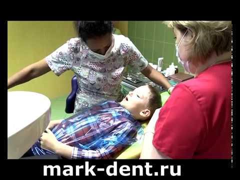 Длительное лечение и удаление молочных зубов юному хоккеисту.