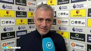 """Goal-line technology doesn't make mistakes like VAR"" Jose Mourinho rues a frustrating afternoon"