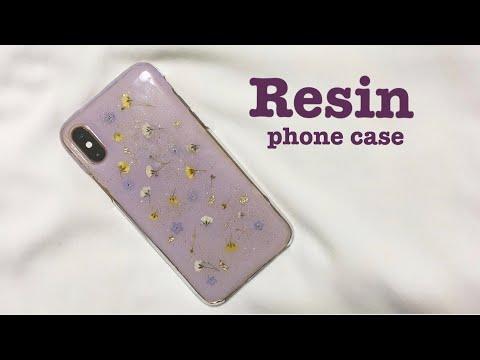 【UVレジン】押し花とレジンで作るオリジナルスマホケース DIY Resin phone case