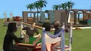 Sims 2 Resident evil 4 family