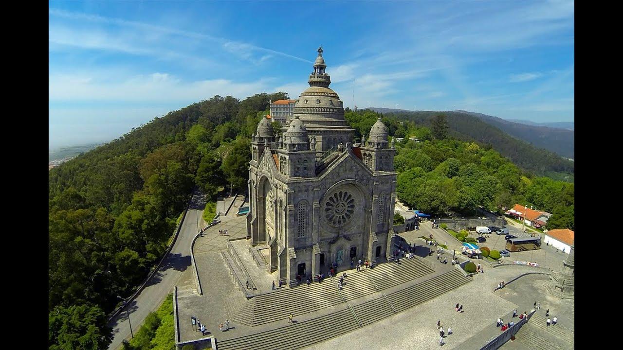 Santa luzia aerial view viana do castelo youtube - Viana do castelo portugal ...