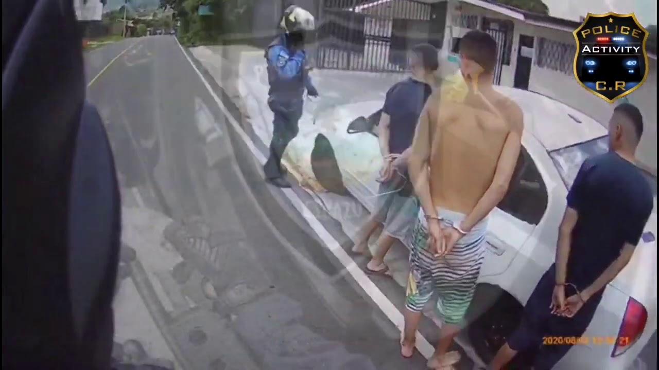 Lanzan droga por la ventana cuando les dan seguimiento! Policía Municipal De Escazú