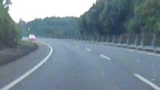 覆面パトカー VS ファンカーゴ 九州道 溝辺PA付近