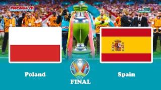 Poland vs spain - final uefa euro pes 2021 gameplay pc
