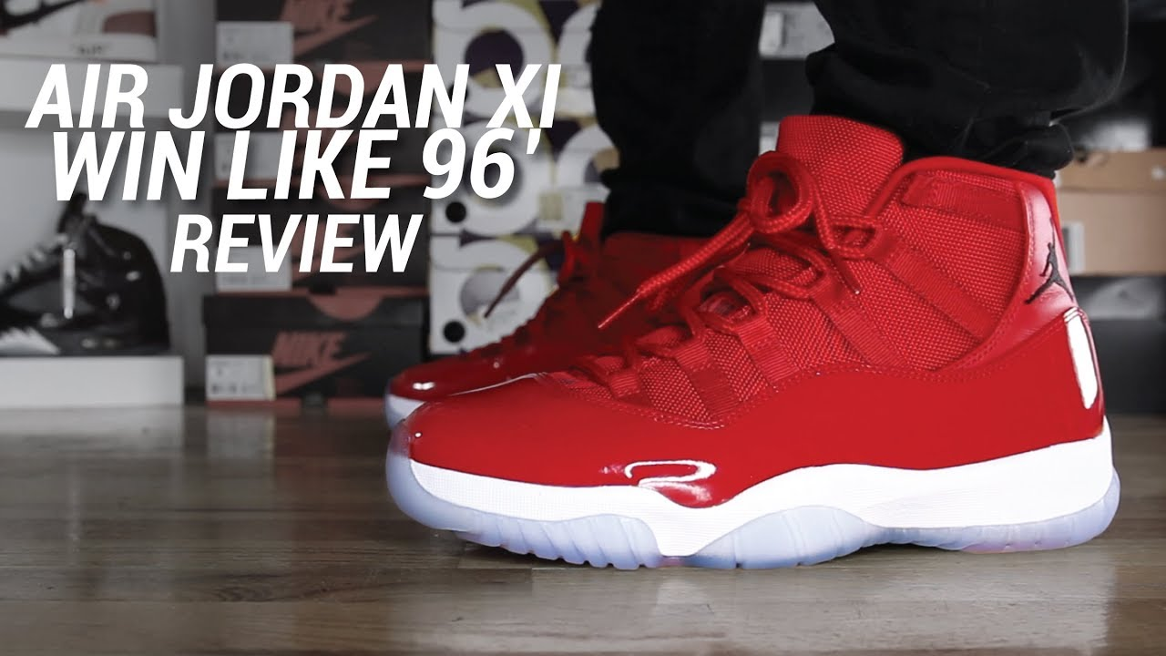 951bf2e5fcd6b9 AIR JORDAN 11 WIN LIKE 96 REVIEW - YouTube