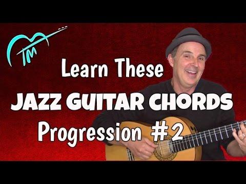 Jazz Guitar Chords Progression And Exercise G13 Dm9 Cm9 G75