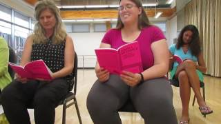 Reading 'Kari' at the 'Always A Bridesmaid' Audition - Playgoers of Lethbridge Production.