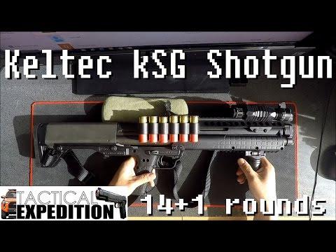 【Gun8】BEST SHOTGUN - Keltec KSG Shotgun. 14+1 rounds. Mesa Tactical Side Saddle. Police EDC!!