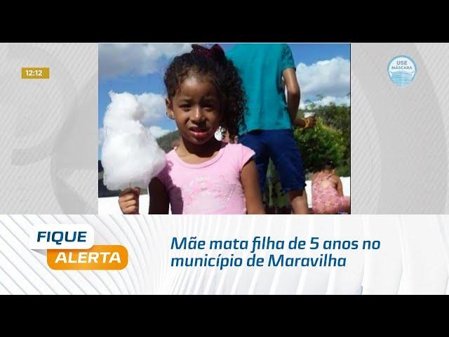 Com problemas mentais: Mãe mata filha de 5 anos no município de Maravilha