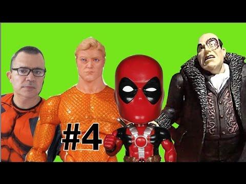 #4 Aquaman Batman Deadpool X-Men Pinguim Penguin DC Comics Marvel Super Amigos Super Friends Bonecos