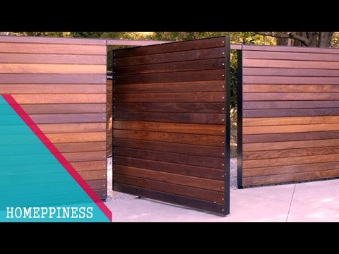 (NEW DESIGN 2017) 50+ Modern Wood Gate Fence Ideas