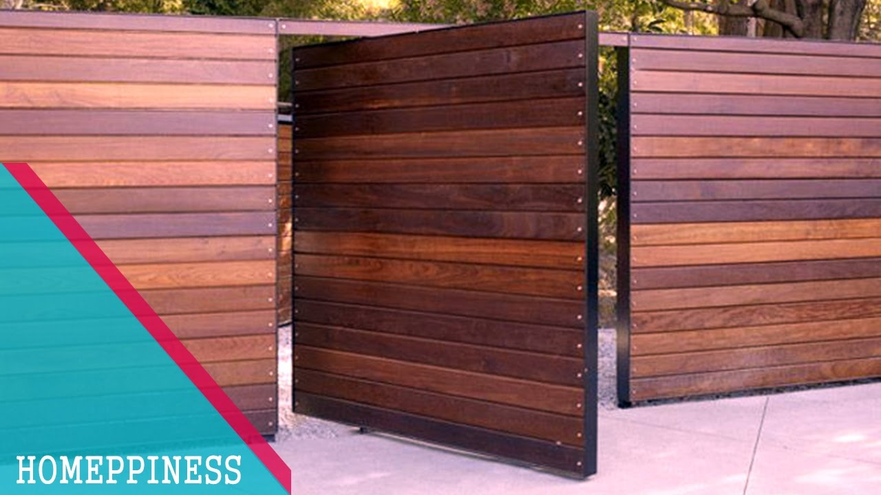 (NEW DESIGN 2017) 50+ Modern Wood Gate Fence Ideas - YouTube
