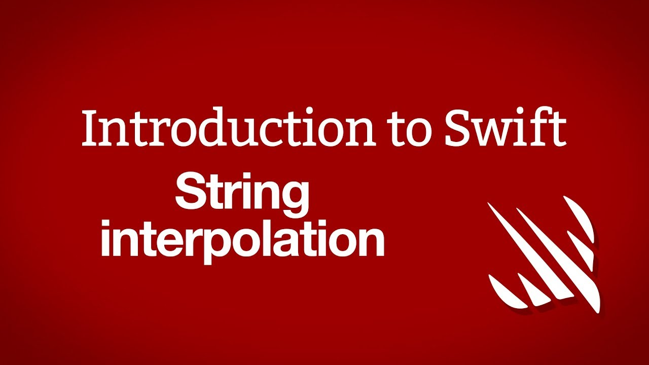 Introduction to Swift: String interpolation