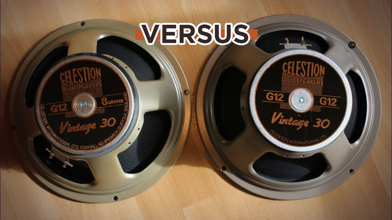 Celestion V30 normal made in China compared to