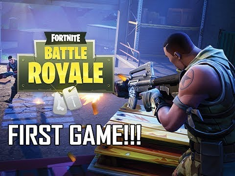 My First Ever Game of Fornite Battle Royale