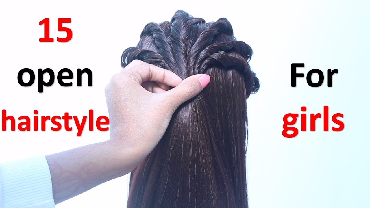 15 open hairstyle for girls | new hairstyle | hair style girl | easy hairstyles | simple ...