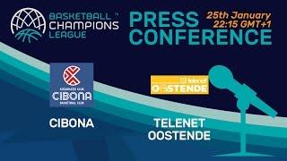 Cibona v Telenet Oostende - Press Conference - Basketball Champions League