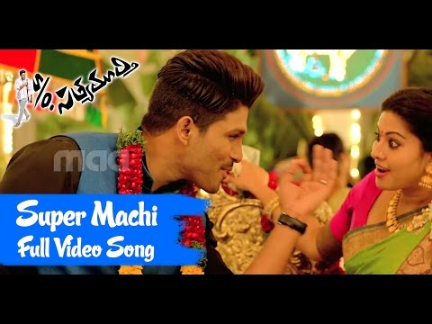 Super Machi Full Song : So Satyamurthy Full  Song  Allu Arjun, Upendra, Sneha