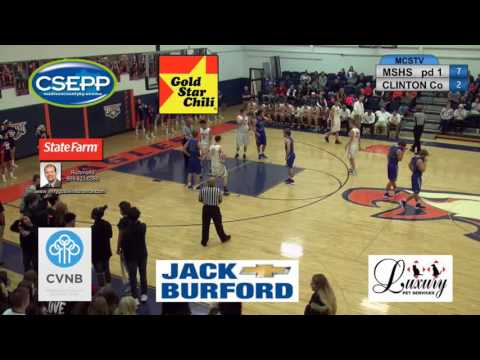 MSHS boys basketball vs Clinton County 02-03-17