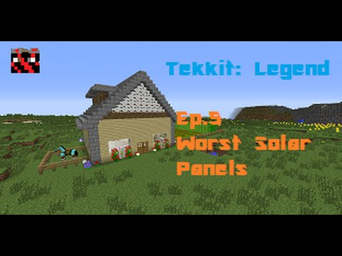 Minecraft | Tekkit: Legends Ep.5 Worst Solar Panels