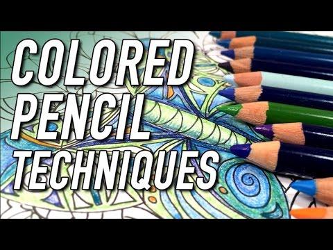Colored Pencil Techniques - YouTube