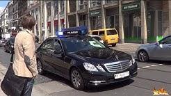 Feldjäger eskortieren Reisebus mit Blaulicht & Durchsage [in Dresden]