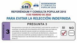 Conozca las siete preguntas del Referéndum y Consulta Popular del Ecuador 2018