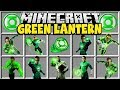Minecraft GREEN LANTERN MOD | BECOME THE GREEN LANTERN AND USE HIS POWERS!!