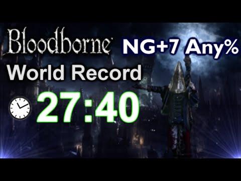 Bloodborne: NG+7 Any% Speedrun NEW World Record! - 27:40