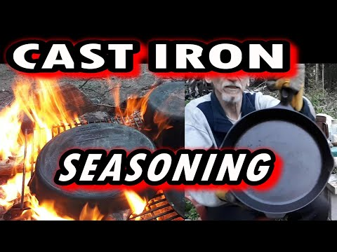 HOW TO Clean & Season CAST IRON COOKWARE / Off Grid Living / Cabin Life EP 38