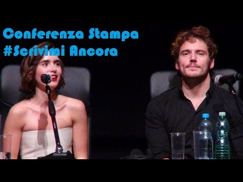 #RomaFF9 : Conferenza Stampa - Love,Roise  (Lily Collins, Sam Claflin) #ScrivimiAncora