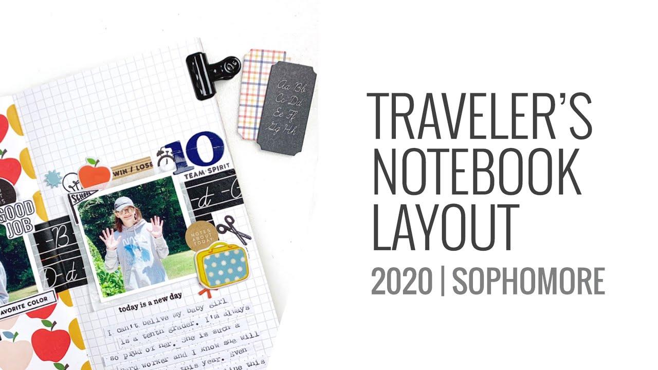 Traveler's Notebook Layout 2020 | Studio Calico Head Of The Class TN Kit