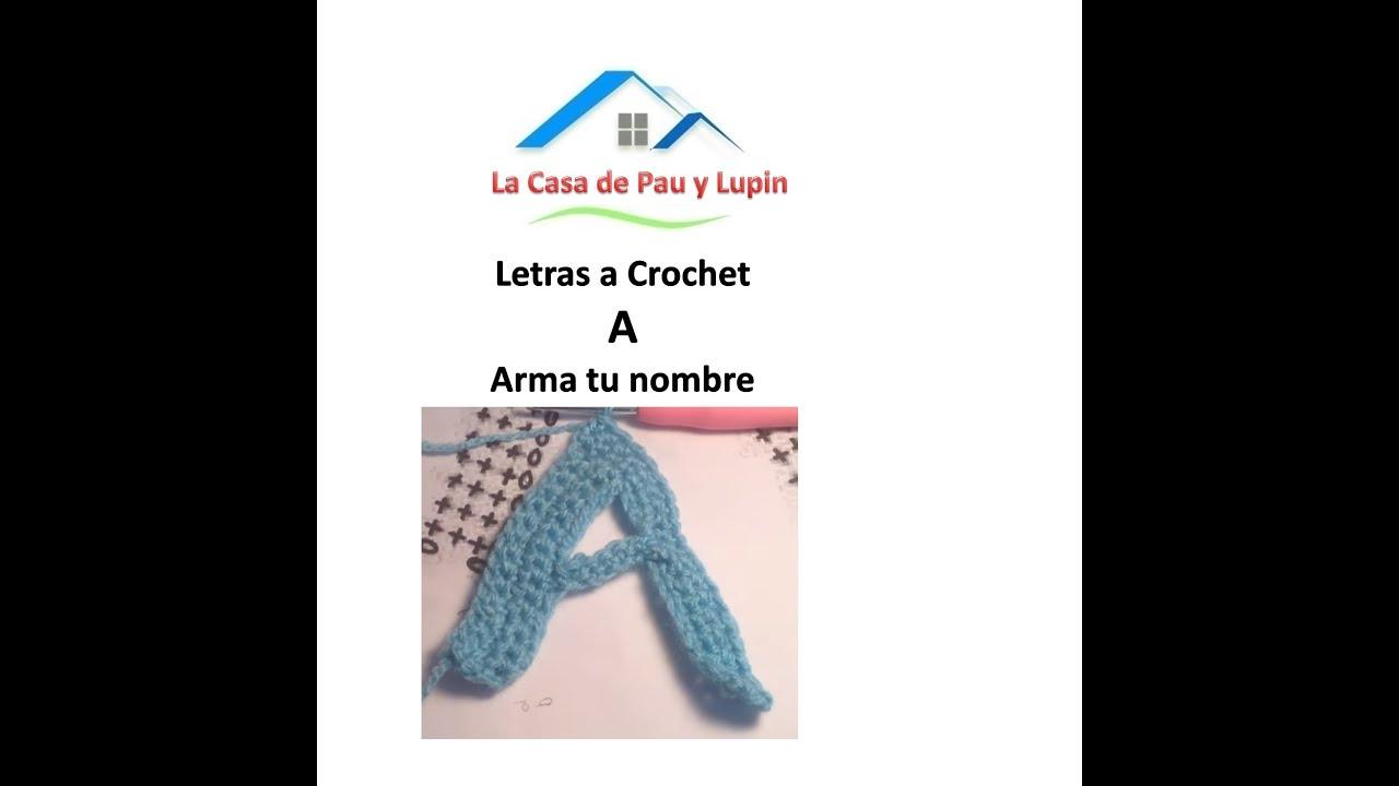 crochet, Letras a crochet \