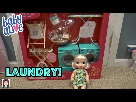 Baby Alive Opal Opens Our Generation Laundry Set!
