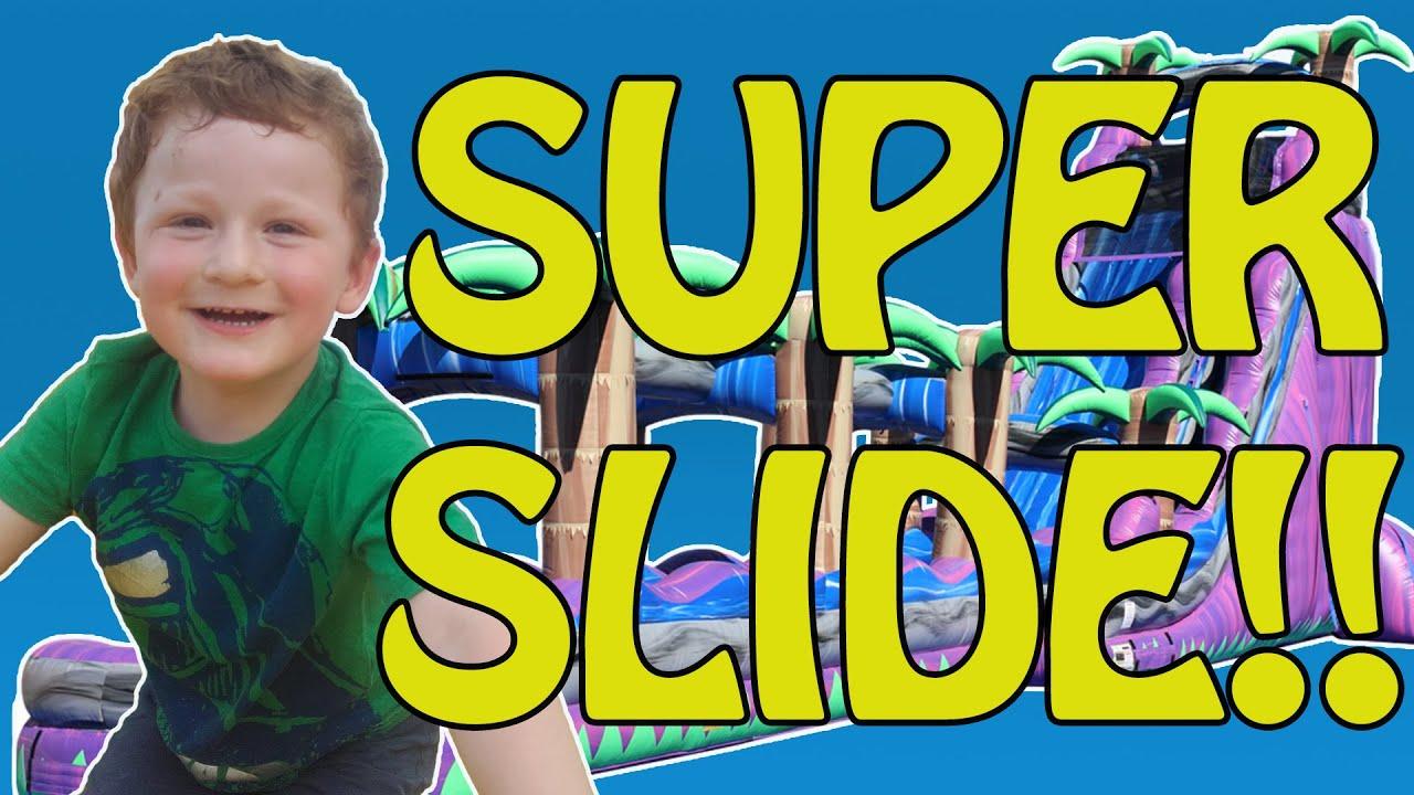 Fun Super Inflatable Slide  - Adventure Playground - Kids Video - New Kids TV
