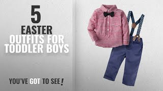 Top10 Easter Outfits For Toddler Boys [2018]: BIG ELEPHANT Baby Boys' 3 Piece Genle Pants Clothing