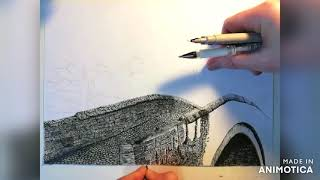 Brig o' Doon drawing time-lapse video